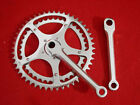 Vintage Chrome Steel 150 mm Cottered Crank Set Road 48 40 Used