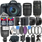 Canon EOS 7D Mark II DSLR Camera + 18 135mm STM + 70 300mm + Flash 64GB Kit
