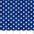BY 1 2 YD LIBERTY RIDE WHITE STARS ON BLUE 21313 44 Northcott Fabric PATRIOTIC