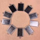 8pc Tibetan Silver Picture Photo Frame Cabochon Pendant Charms Jewelry Findings