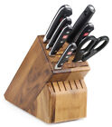 Wusthof Classic 8 Piece Deluxe Block Knife Set with Acacia Block 8408 6 NEW