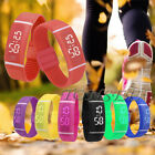 Mens Womens Cheap Silicone LED Sport Date Sports Bracelet Digital Wrist Watch