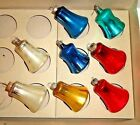 Antique Mercury Glass BELL Christmas Ornaments 8 MULTI COLOR Corning Glass Works