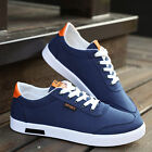 Korean Mens Board Shoes Breathable Casual Sneakers Flat Heel Canvas Shoes