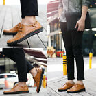 Fashion Men Board Shoes Lace UP Casual PU Leather Flats Outdoor Walking shoes