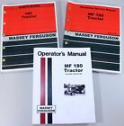 SET MASSEY FERGUSON MF 180 TRACTOR SERVICE REPAIR OWNERS OPERATORS PARTS MANUALS