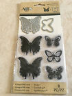 Momenta Art C Stamp  Die Set Butterflies Clear Butterfly 24668 NEW