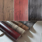 10M Roll Vintage Gray Red Realistic Wood Textured Plank Panel Vinyl Wallpaper 3D