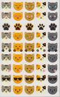 Mrs Grossmans Giant Stickers Cat Emotions Kitty Emoticons 2 Strips