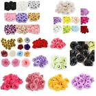 20 50 x Wedding Fake Roses Artificial Silk Plastic Flower Heads Party Decoration