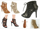 New Womens Fashion Gladiator Strappy High Heel Stiletto Pumps Sandals Shoes