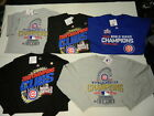 Official Chicago Cubs 2016 World Series Champions Locker Parade 5 Shirt Lot Md