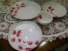 2309) 4 Pcs Mikasa Pure Red SL 134 Soup Bowl Dinner Plate Salad Plate Coffee Cup