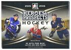 2015 16 LEAF HEROES & PROSPECTS HOCKEY HOBBY BOX WITH 10 HITS!