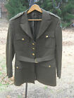 Vietnam War Era Military Army Green Uniform Coat-w/Lining-4th Infantry Div Patch