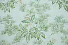 1950s Vintage Wallpaper Green Leaves and Pine Needles with metallic gold