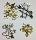 Steampunk Keys Choice of Colour  Qty Vintage Santa Charms Parts Findings