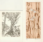 4 Ex libris Exlibris Etching by V artists