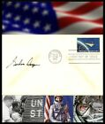 Gordon Cooper Autographed First Day Cover With Project Mercury Postage Stamp