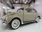 1956 Volkswagen Beetle Classic Type 1 Oval Window beautifully restored 1956 Volkswagen Type 1 Oval Window Beetle California black pl