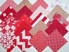 100 cotton fabric quilt blocks 4 Red Red and white squares lot