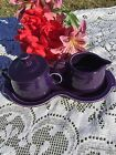 FIESTA  NEW PLUM purple 4 Piece SUGAR & CREAM TRAY SET Fiestaware