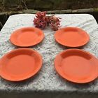 FIESTA 4 NEW POPPY deep orange DINNER PLATES 10-1/2