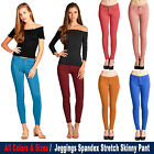 Womens Active Color Jeggings Regular to Plus Size Spandex Stretchy Skinny Pants