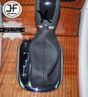 GREY STITCH DARK GREY LEATHER AUTOMATIC SHIFT BOOT COVER MERCEDEC C-CLASS 00-03