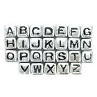 Paracord Planet Silver Acrylic Alphabet Cubic Letter Beads in Packs of 5