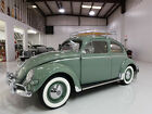1957 Volkswagen Beetle Classic Oval Window Low Miles Original 36 HP Engine 1957 Volkswagen Oval Window Beetle Last Year for Oval Window Production