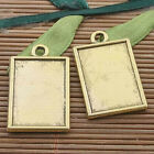 6pcs dark gold tone picture frame charm h3357