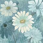 Teal Daisy Patch II by Tre Sorelle Studios Poster Frame 20 x 20 x 1.5 in.