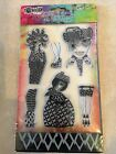 Ranger Dylusions Clear Acrylic Stamp  Stencil BLACK DIAMONDS Set NEW