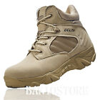 Mens Military Ankle Boot Tactical Leather Desert Combat Hiking Shoes Comfort S7