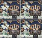 (4) 2016 Panini CROWN ROYALE Football NFL Trading Cards New 20ct. Retail Box LOT