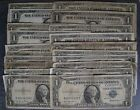 Lot of 20:  Circulated 1935 Silver Certificate $1 Notes; 1 Dollar Notes - No Res