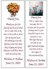 WEDDING BRIDAL SHOWER FAVORS 100 BOOKMARKS PERSONALIZED FOR YOU
