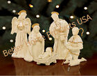 Lenox Innocence Nativity 6 Piece Holy Family Angel Shephard Lamb Set New In Box