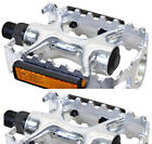 Sunlite Alloy Sport Pedals Road Mountain Bike Bicycle Chrome Silver