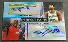 TIM DUNCAN SHAQUILLE O'NEAL 04-05 Topps Finest PERFECT PAIRS DUAL AUTO #26 50!