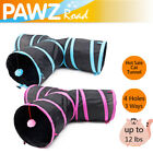 Pet Cat Tunnel 3 Ways With Kitten Scratching Ball Y Shape Collapsible Tube Toy