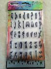 Dylusions Clear Acrylic Stamp  Stencil Alphabet  Numbers Set DYZ45809 NEW