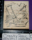 LETTERS COLLAGE MAIL SCRIPT RUBBER STAMP STAMPERS ANONYMOUS TIM HOLTZ P1 589
