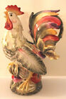 Fitz & Floyd Pitcher Rooster Vegetable Vista Bella Tuscan Style Figural HP New