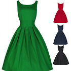 Vintage Style Women 50S Swing Retro Housewife Party Rockabilly Evening Dress