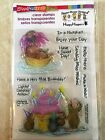 Stampendous Clear Acrylic Stamp Set House Mouse Mice Wishes SSCM5000 NEW