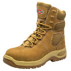 Iron Age 8 Work Boots Mens Tan Leather Composite Toe Shoes Waterproof Comfort