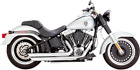 Vance  Hines Chrome Big Shot Staggered Exhaust 86 11 Harley Davidson Softail