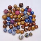 58 Antique Handmade Bennington and Clay Marbles...Mostly Benningtons...Peewees